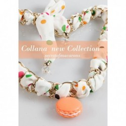 "Collana/Foulard MACARONS ""OR2"" Donna - MCSFL04-C"