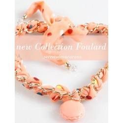 "Collana/Foulard MACARONS ""ORANGE"" Donna - MCSFL01-C"
