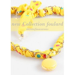 "Collana/Foulard MACARONS ""YELLOW"" Donna - MCSFL02-C"