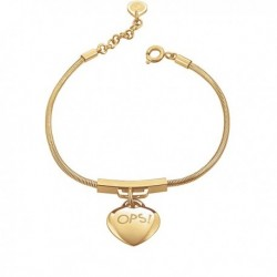 Bracciale OPS CHERIE SNAKE Acciaio IP Gold - OPSBR-366