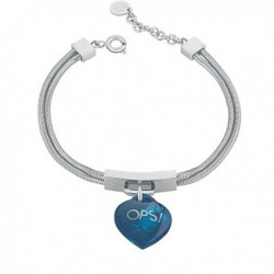 Bracciale OPS LUX MARBLE Donna Argento Blu - OPSBR-361