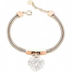 Bracciale OPS LUX MARBLE Donna Oro rosa Bianco - OPSBR-362