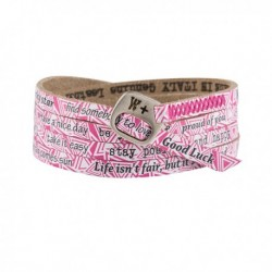 Bracciale We Positive Printed Unisex Triangle Fuxia WE231
